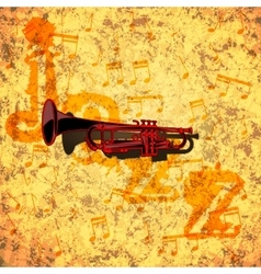 Pattern musical pipes on textural background vector image