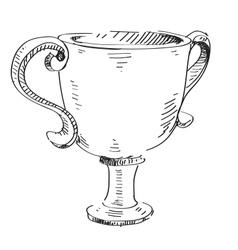 Prize trophy icon vector image vector image