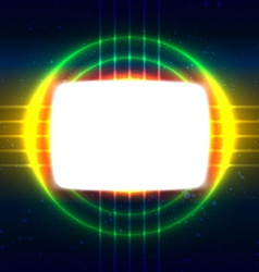 Shiny screen on the crossed wires vector image