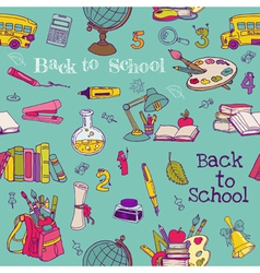 Back to School - Seamless Background vector image vector image