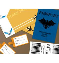 check-in vector image vector image