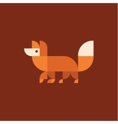 Fox logo of geometric proportion vector image vector image