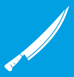 long knife icon white vector image