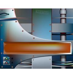 Metalwork banner vector image vector image