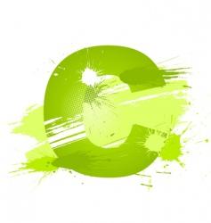 Paint splashes font letter c vector