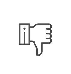 thumb down line icon vector image vector image