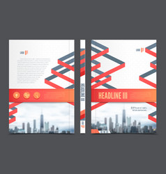 Annual Report Brochure Flyer Design vector image