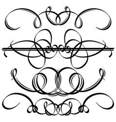 Black calligraphic elements vector image