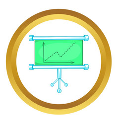 Board with statistics icon vector image