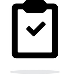 Check clipboard simple icon on white background vector