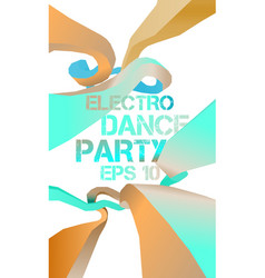 Electro dance party flyer vector image