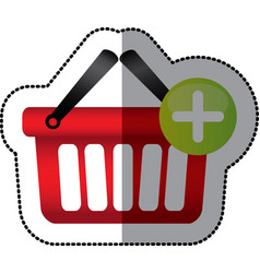 red baskets icon image vector image