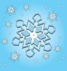 snowflake light 3d vector image