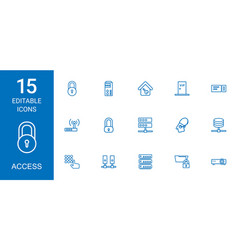 15 access icons vector