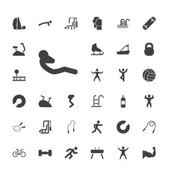 33 exercise icons vector