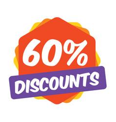 60 off discount promotion sale sale promo market vector image