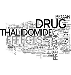 A look at the thalidomide tragedy text word cloud vector