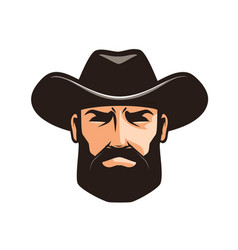 American cowboy logo or label sheriff wrangler vector