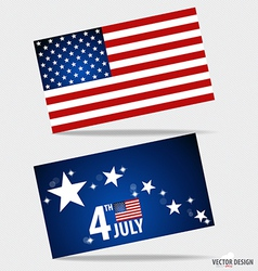 American Flag and note papers ready for your vector image