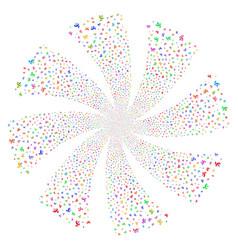 Antenna fireworks swirl flower vector