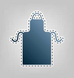 apron simple sign blue icon with outline vector image