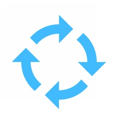 Arrow sign rotation icon reload button refresh vector
