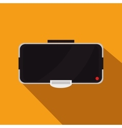 Augmented reality glasses technology icon vector