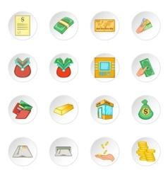 Bank loan credit icons set vector