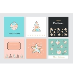 Banner Christmas cards vector