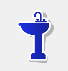 bathroom sink sign new year bluish icon vector image