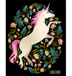 beautiful unicorn magic print background vector image