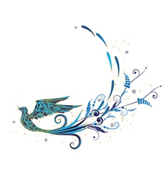 Blue bird vector