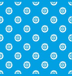 brake shoe pattern seamless blue vector image