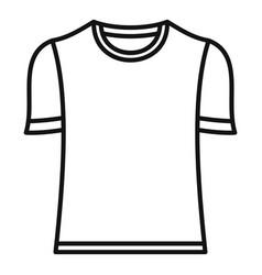 Brazil soccer shirt icon outline style vector