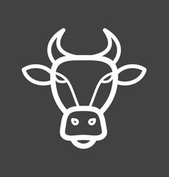 buffalo face vector image