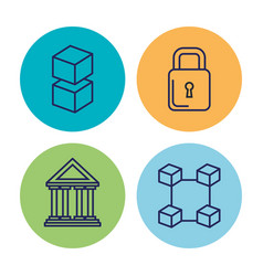 Business and finances set icons vector