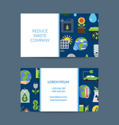 business card for recycling company with vector image