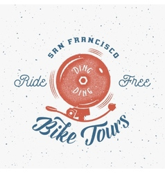 Bycicle Bell Abstract Retro Label or Logo vector image