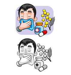 Cartoon allergy template vector