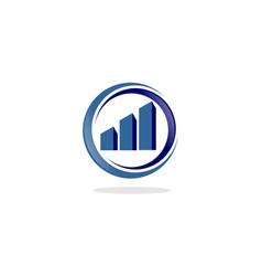 circle arrow finance logo vector image