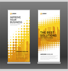 construction roll up banner design template vector image