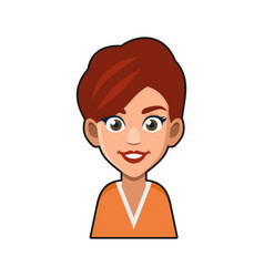 cute beautiful girl avatar character young woman vector image