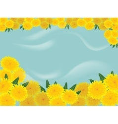 Dandelions blue background vector