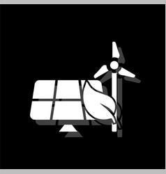 eco energy saving icon flat vector image