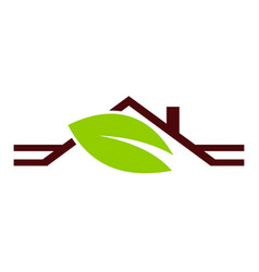 Eco home roof vector