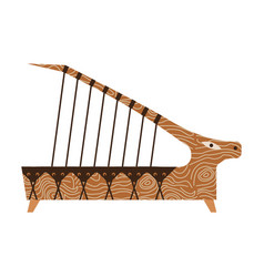 Ethnic kazakh music instrument adyma in flat vector