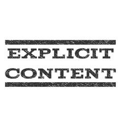 Explicit content watermark stamp vector