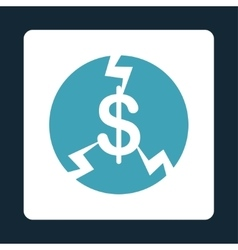 Financial Crash Icon from Commerce Buttons vector image