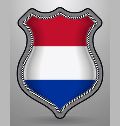 Flag of netherlands badge and icon vector