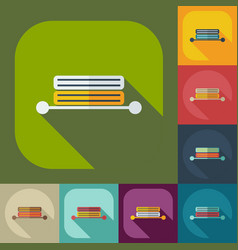 Flat concept set modern design with shadow towel vector